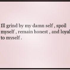 by myself.