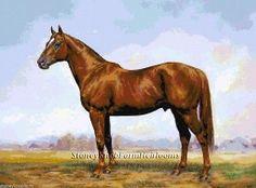 Man O'War ~ Kentucky Thoroughbred Race Horse ~ Cross Stitch Fine Art Pattern