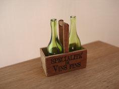 Miniature bottles holder with bottles by cinen on Etsy