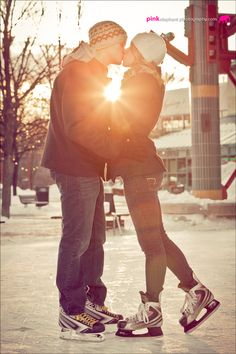 kiss on the ice. The sole reason why everyone should have a hockey boyfriend: to learn how to skate and make out on ice.