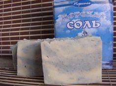 Мыло с глинами и морской солью