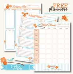 Monthly Themed: Meal Planner, Shopping list and weekly planner from The CreativiDee Workshop