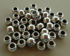 Basic Silver Plated Round Euro Spacers on Etsy, $5.00