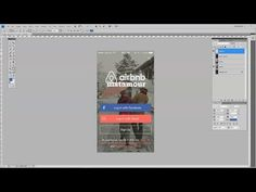 How To Design a Mobile App Signup Screen in Adobe Photoshop - YouTube