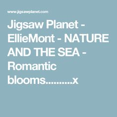 Jigsaw Planet - EllieMont - NATURE AND THE SEA - Romantic blooms..........x