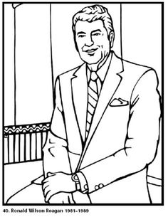 free printable coloring pages for kids print this coloring page of president ronald reagan and