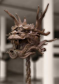 Ai Weiwei bronze dragon head, part of the exhibition Circle of Animals/Zodiac Heads on display at Somerset House from 12 May Ai Weiwei, Japanese Dragon, Chinese Dragon, Chinese Art, Chinese Zodiac, Pet Dragon, Dragon Head, Art Nouveau, Dragon Oriental