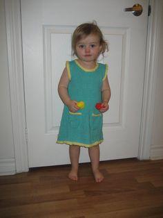 Cotton Child Dress, Baby Cotton Dress, Two Color Dress, Cotton Sleeveless Dress, Cotton Blue Dress, Toddler Cotton Dress, Dress Pockets,