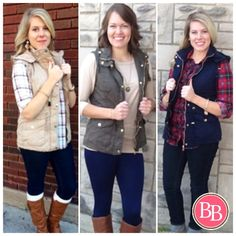 Fall Hooded Pilot Vest is available is 3 incredible colors!!! Sizes S-L. Order online at brandisboutiqueshop.co! #BBGirls #fallfashion #vestseason #style