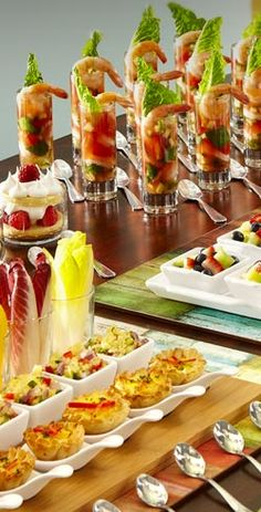 picture showing ideas for mini appetizers (Pier 1 website)