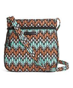 620920468742 Vera Bradley Sierra Stream Petite Double-Zip Hipster Crossbody Bag