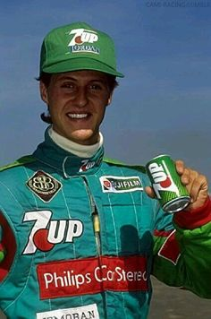 His first & only appearance for Eddie Jordan. He burned out his clutch at the beginning of the race. But he was a champion in waiting - - - . Michael Schumacher, Mick Schumacher, Alain Prost, Jackie Stewart, Eddie Jordan, Vive Le Sport, Belgian Grand Prix, Motorcycle Suit, Formula 1 Car