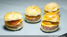 MIni hamburguesa de pavo