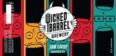 Wicked Barrel is micro-brewery based near the town of Bicaz, Romania - they produce some of the best craft beers in the country. Best Craft Beers, Beer Packaging, Custom Labels, Packaging Design Inspiration, Glass Bottles, Brewery, Fun Crafts, Barrel, Ale