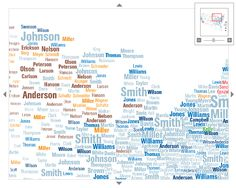 Map Design Annotated Voyager Maps From Making Maps Nd Edition - Interactive us surnames map