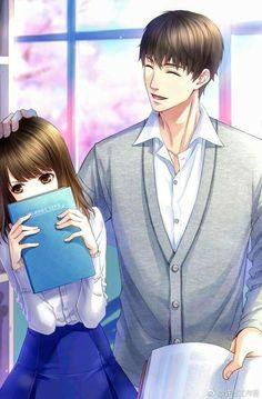 Anime Cupples, Anime Kawaii, Cool Anime Guys, Handsome Anime Guys, Manga Couple, Anime Love Couple, Anime Couples Drawings, Anime Couples Manga, Romantic Anime Couples