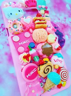 Hello kitty cute pink MAC decoden phone case for ALL iPhone models iPhone 6 5 4. #UnbrandedGeneric
