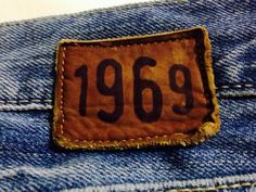 leather label / vintage tekstil