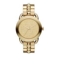 Karl Lagerfeld Pop ladies' gold-plated bracelet watch- Ernest Jones