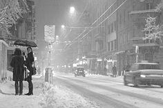 stadt]bild: Langstrasse, Zürich: Mehr Schnee denn je First Night, Switzerland, Monochrome, To Go, Snow, Wild Things, City, Photography, Outdoor