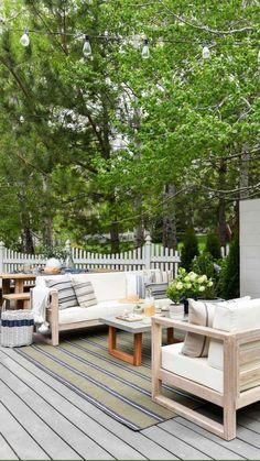 Outdoor Lounge, Outdoor Spaces, Outdoor Living, Outdoor Decor, Outdoor Kitchens, Garden Furniture, Outdoor Furniture Sets, Farmhouse Furniture, Pallet Furniture