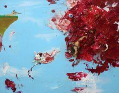 Zen Tainaka, Hunt, acrylic, clay, plastic, resin on wooden panel, 72.7×91cm, 2015