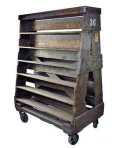 Pallets on wheels--would made a great rolling display