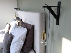 Zelf nachtlampjes gemaakt   DIY   goud   zwart-wit snoer