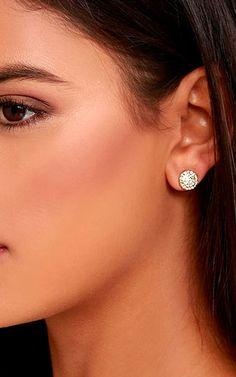 Gold Rhinestone Earrings by Astronautics via @bestchicfashion