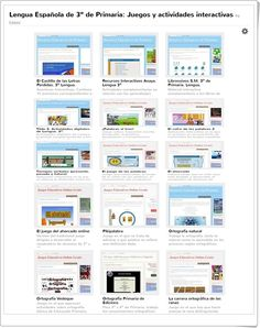Juegos, actividades interactivas y materiales didácticos para el aprendizaje de Lengua Española en 3º Nivel de Educación Primaria.