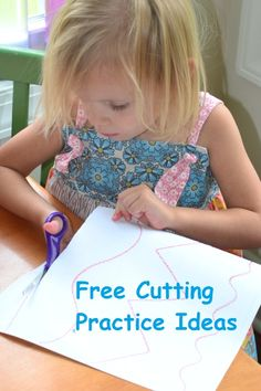 FREE Cutting Practice Ideas for Kids