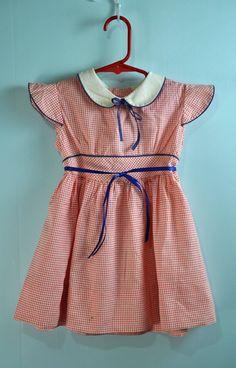40s little Girls Babydoll dress w/ butterfly sleeves - Rock Street Vintage