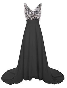 e1d7b8bc1f3 Wedtrend Women s Long Chiffon Prom Dress with Train Bridesmaid Dress with  Beads – New Dresses Special