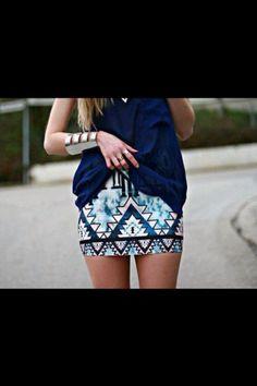 Tribal print skirt!