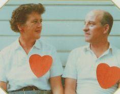 Julia Child and husband Paul Child.