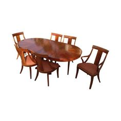 The actual chairs, purchased 1997. Did not purchase table. Image of Ethan Allen Medallion Dining Table & Six Chairs