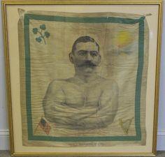 John L. Vintage Bandana, 4 Leaves, Boxer, Portrait, Gallery, Frame, Decor, Souvenir, Picture Frame