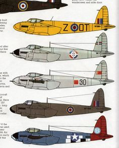 vintage airplane WWII Mosquito Aircraft