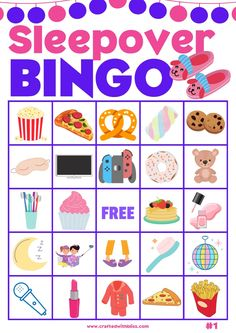Pajama Party Games, Bingo Party, Toddler Party Games, Adult Party Games, Pj Party, Food Games For Kids, Party Games For Ladies, Online Games For Kids, Sleepover Things To Do