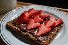 Nutella & Strawberry toast yum!