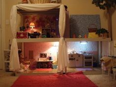 """DIY AMERICAN GIRL DOLL HOUSE - Purchase plastic shelving w/shelves that are 24x36"""", assembled using plastic 'poles'. Around $55 (Home Depot). You will need pvc pipe to replace the 'poles' (1 1/4"""" diameter,12 pieces, 24"""" long). Use a rubber mallet to assemble the shelves and pvc. 6 peel and stick vinyl tiles will complete each floor. Cut the corners around the pvc at each post to get it to fit. Decorate, customize, loads of fun! Best of all no insane American Girl store prices!!! ENJOY!"""