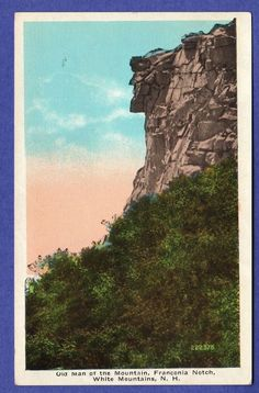 Collectible New Hampshire Postcards Franconia Notch, White Mountains, U.s. States, Old Men, New Hampshire, Worlds Largest, Postcards, This Is Us, Cities