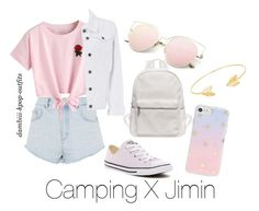 """Camping X Jimin"" by dambiii ❤ liked on Polyvore featuring Topshop, WithChic, Dorothy Perkins, Converse, Sonix, Lord & Taylor, bts and jimin"