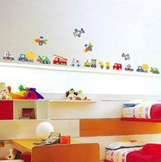 Transport Kid's Boys Girls Babies Nursery Room Children Wall Stickers on Etsy, $7.35