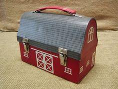 RARE Vintage Barn Lunch Pail Box Antique Boxes Lunchbox | eBay