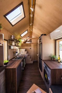 Tumbleweed Tiny Houses are unlike any Tiny Houses you've ever seen before. of options to customize your Tiny House on Wheels. Tyni House, Tiny House Living, Living Room, Tiny House Bedroom, Small Living, Modern Living, Tiny House Movement, Small Room Design, Tiny House Design