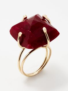 Burgundy red ring Design by Alanna Bess.