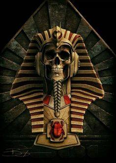 by Bud Sypeck Art & Design Egyptian Mythology, Ancient Egyptian Art, Dark Fantasy Art, Dark Art, Tomb Kings, Anubis Tattoo, Egypt Art, Creepy Art, Grim Reaper