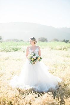 Rustic Elegance for a Sunlit Field Bridal Portrait Session  https://heyweddinglady.com/sunshine-wildflowers-rustic-wedding-day/    #wedding #weddings #weddingideas #rusticwedding #summerweddings #blueweddings #weddingdress #blushbyhayleypaige #brides #bridalstyle #bouquet #bridalbouquet #bridalphotos