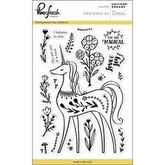 Pinkfresh Studio UNICORN DREAMS Clear Stamp Set PFCS2617